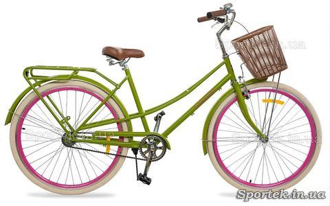 Городской женский велосипед  Dorozhnik Comfort Female 2018 салатный