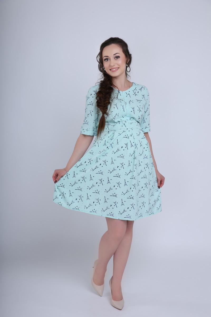 Платье 08372 ментол