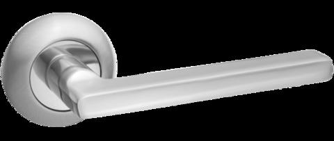 Фурнитура - Ручка Дверная  Renz Бруно, цвет никель матовый ЦАМ (гарантия - 12 месяцев)