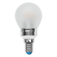 Лампа светодиодная (08010) E14 5W 4500K шар матовый LED-G45P-5W/NW/E14/FR