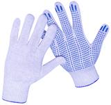 Перчатки трикотажные ПВХ Точка 10 кл 4х нитка  (1 мешок - 500 пар/ упак 10 пар)