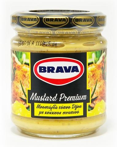 Горчица дижонская с зернами премиум Brava 200 г.