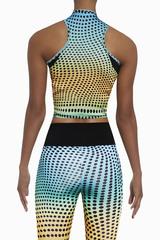 Разноцветная майка для фитнеса Wave top 200 den