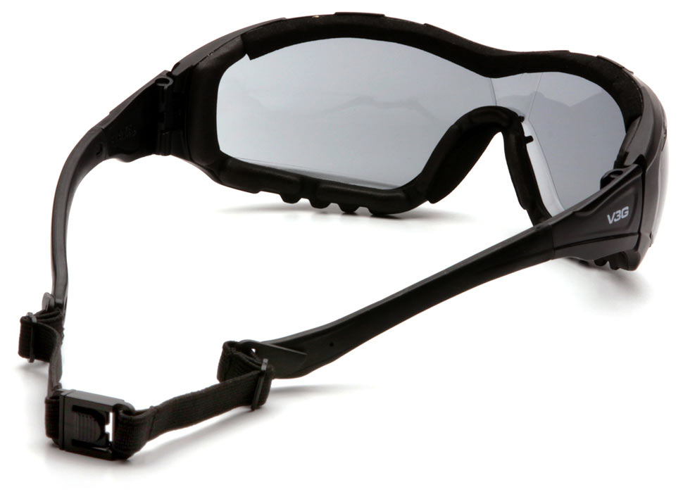 Очки баллистические стрелковые Pyramex V3G GB8220ST Anti-Fog Diopter серые 23%