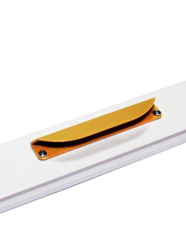 Ручки ПВХ с магнитной защелкой светло-коричневая