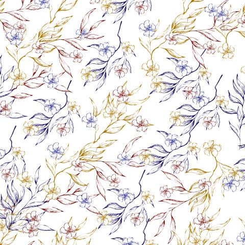 Светлый винтажный цветочный орнамент