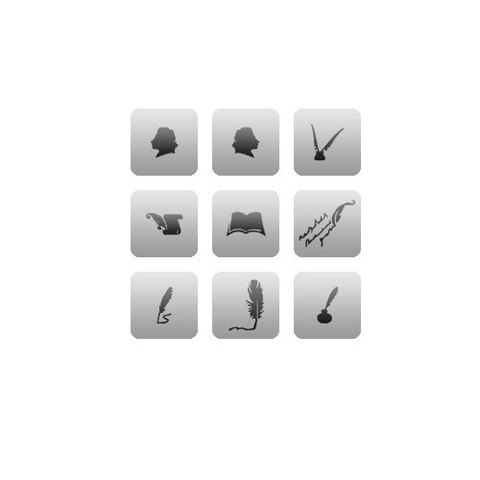 Трафарет для ногтей 9 шт. /1 уп. № CL2