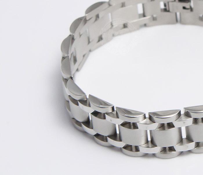 BM479 Широкий браслет из ювелирной стали (21 см) фото 04