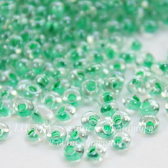 38656 Бисер Preciosa Дропс (Drops) 8/0 Кристал блестящий с ментоловым центром