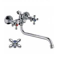 Смеситель для ванны двухвентильный Ledeme L2127 фото
