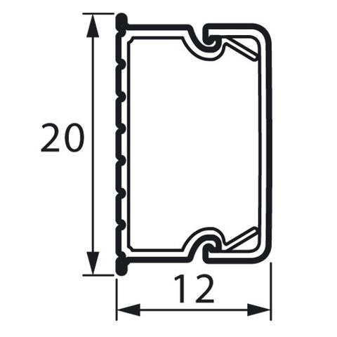 Мини-канал 20x12 - 2 метра - с крышкой. Цвет Белый. Legrand Metra (Легранд Метра). 638192
