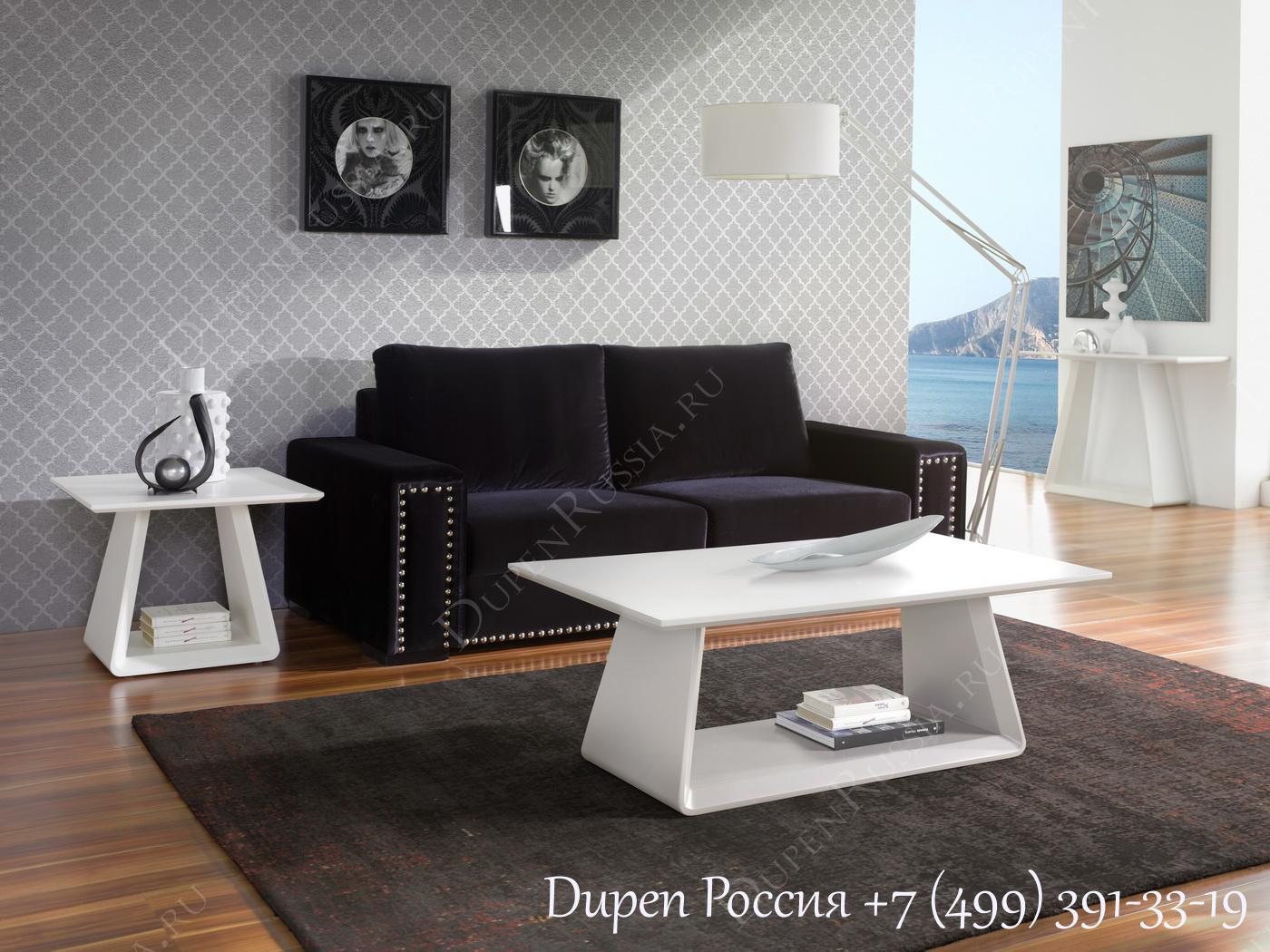 Журнальный стол DUPEN CT-222 Белый матовый, Журнальный стол DUPEN CT-223 Белый матовый