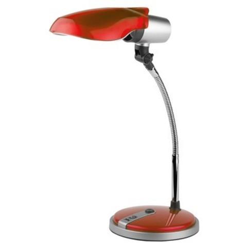 Светильник настольный Эра NE-301, красный, люминесцентный, 15W