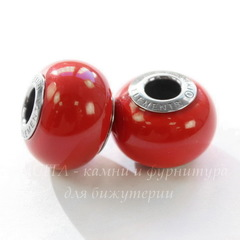 5890 Бусина Сваровски BeCharmed Pearl Crystal Red Coral 14х10 мм