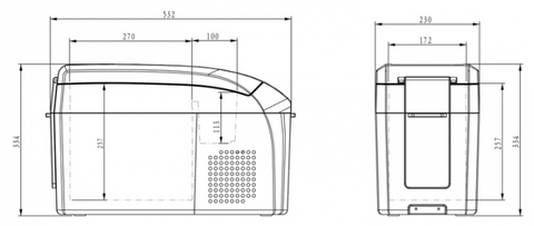 Компрессорный автохолодильник Colku DC-15F (14 л.) 12-24V