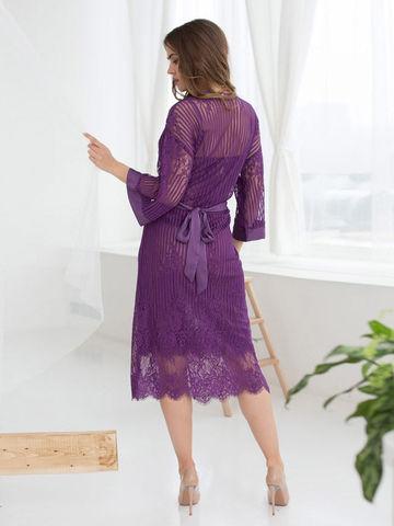 Женский кружевной халат MIA-MIA Lolita Лолита 17467 фиолетовый