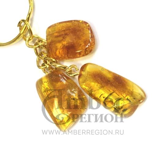 Янтарный брелок (3 камня) в ассортименте