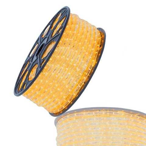 гофрированный желтый дюралайт 100 метров led