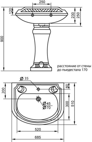 Пьедестал Cezares King Palace CZR-431-T