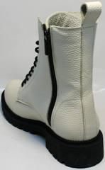 Ботинки с высоким берцем с молнией женские зимние Ari Andano 740 Milk Black.