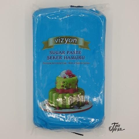 Паста для лепки Мастика голубая Polen (Vizyon), 1 кг.