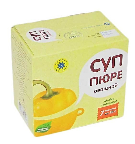 Суп-пюре ОВОЩНОЙ 210г (Компас здоровья)