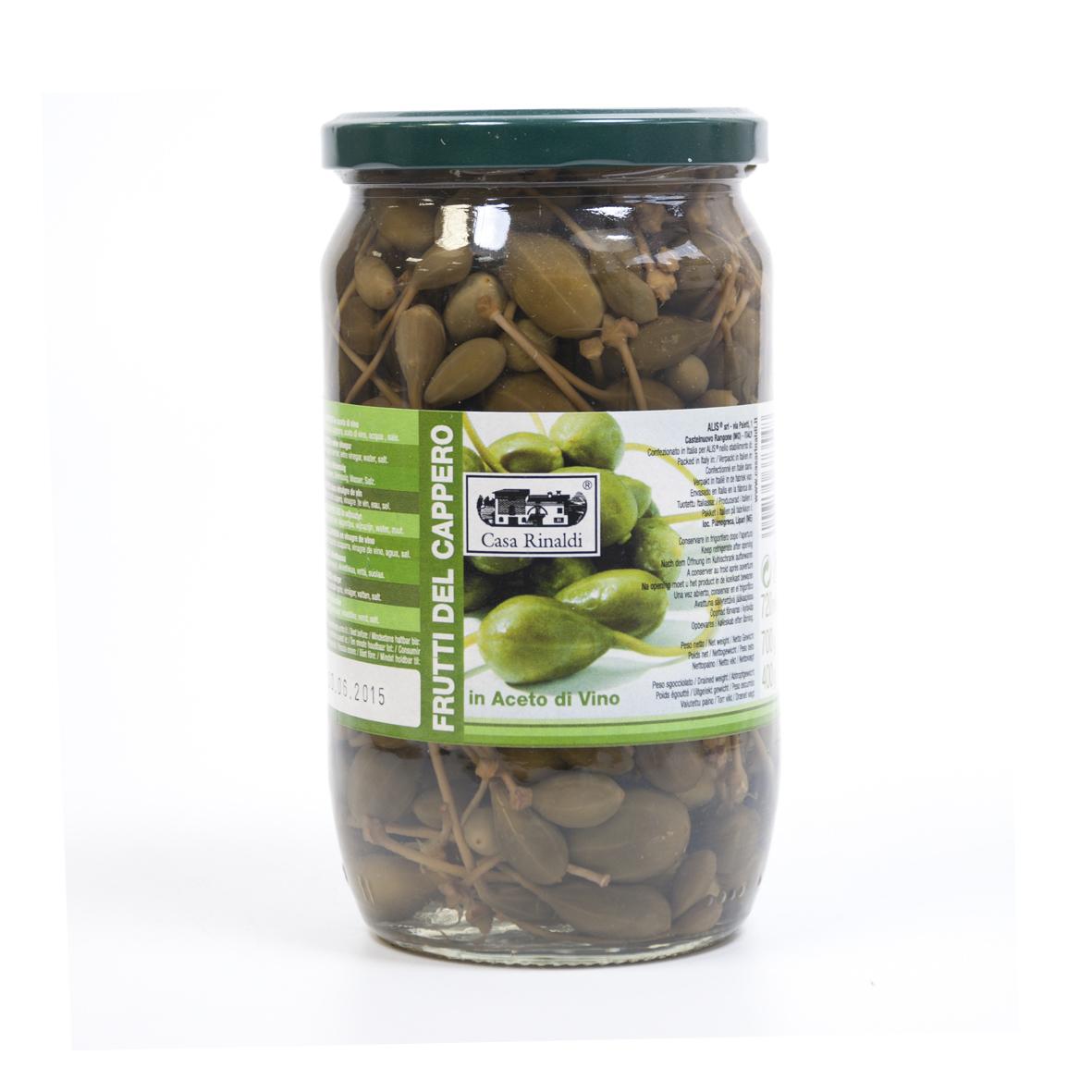 Каперсы Casa Rinaldi на веточке (плоды каперсов) 700 гр