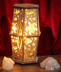 Солевая лампа с узором Морская черепаха 2-2,5 кг