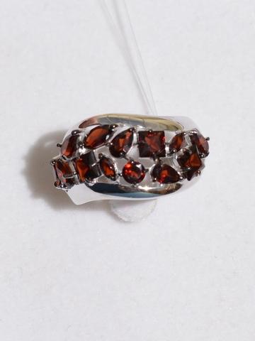 Гроздь-гранат (кольцо из серебра)