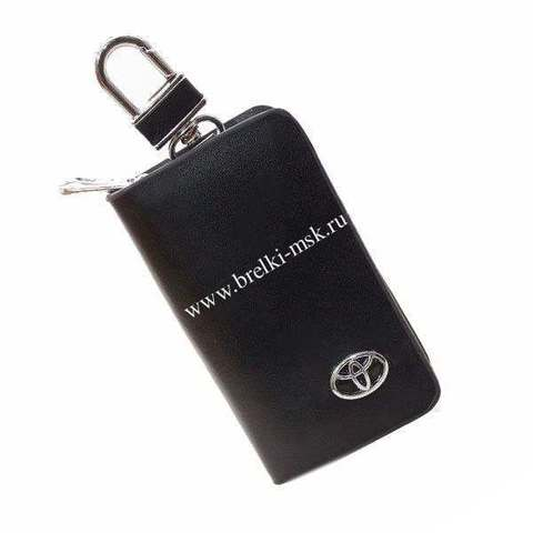 Ключница кожаная с логотипом Toyota (Тойота)