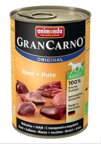 Консервы Animonda Gran Carno Original Adult с говядиной и индейкой для взрослых собак