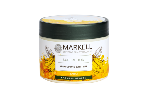 Markell Superfood Крем-суфле для тела банан 300мл