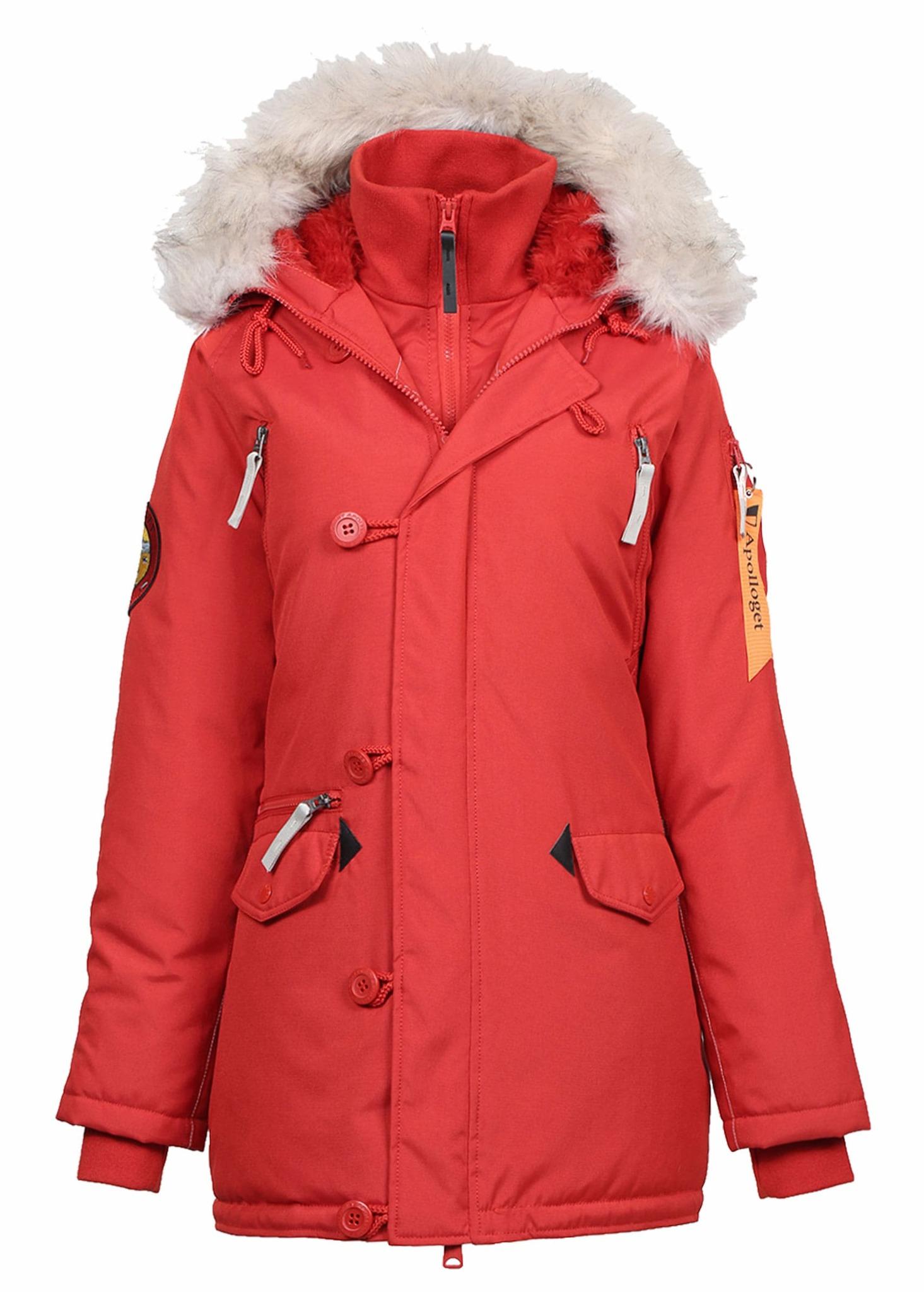 Куртка Аляска Женская - Apolloget Oxford Wmn (красная - red/white)