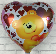 Шар Сердце Мишка в сердцах