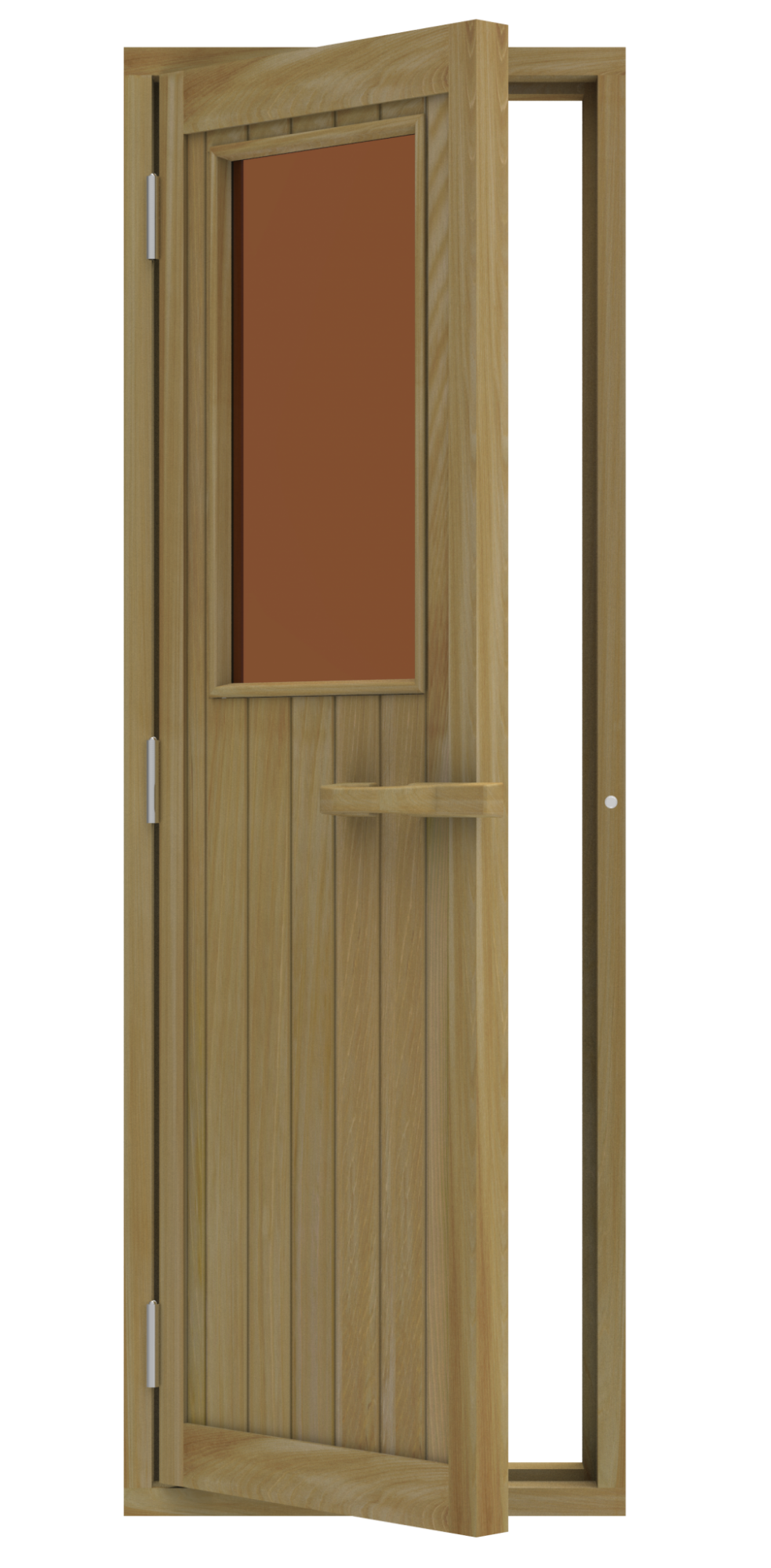 Двери: Дверь SAWO 735-4SGD-L 700 x 2040 (бронза, левая, кедр)