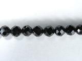 Бусина из шпинели черной, фигурная, 6 мм (шар, граненая)