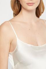 Комбинация белая из натурального шелка SILKME