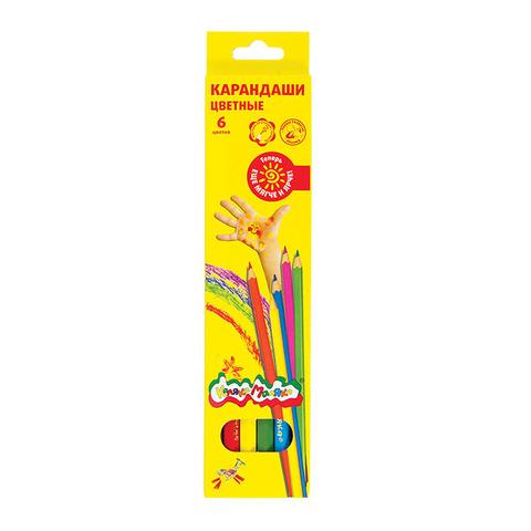 Карандаши цветные Каляка-Маляка 6 цветов/ККМ06