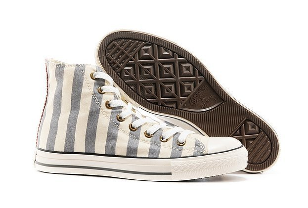 CONVERSE CHUCK TAYLOR ALL STAR HIGH STRIPED GREY (019)