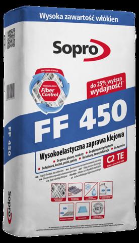 SOPRO FF450/Сопро ФФ450 высокоэластичный клеевой раствор для приклеивания и укладки керамических облицовок
