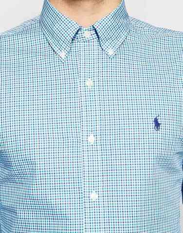 Зауженная рубашка с принтом в клетку Polo Ralph Lauren
