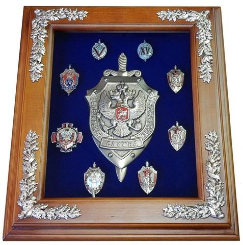 """Панно """"Эмблема ФСБ с юбилейными знаками"""""""