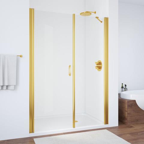 Душевая дверь в нишу Vegas Glass EP-2F профиль золото, стекло прозрачное