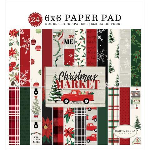 Набор двусторонней бумаги 15х15 см Carta Bella Christmas Market -24л