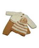 Вязаный жакет, рейтузы и шапочка - Бежевый. Одежда для кукол, пупсов и мягких игрушек.