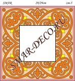 Эскиз для росписи, Зеркало 29/29см, SMAR-zm-5