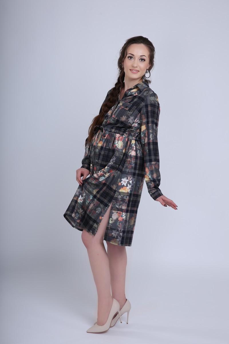 Платье 08023 клетка
