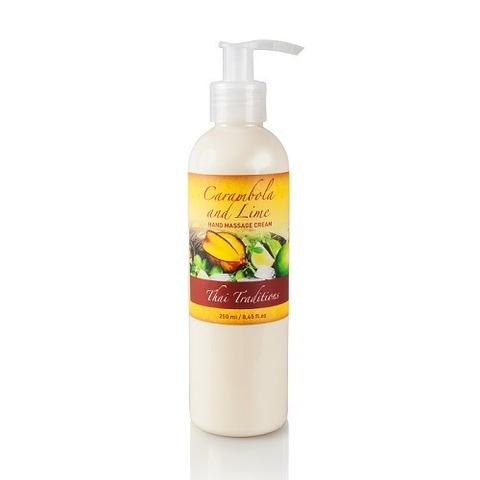 Thai Traditions Крем для рук массажный Карамбола и Лайм Carambola and Lime Hand Massage Cream 250мл