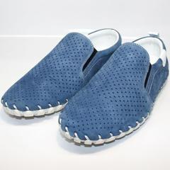 Мужские синие мокасины Alvito 01-1308 92-86