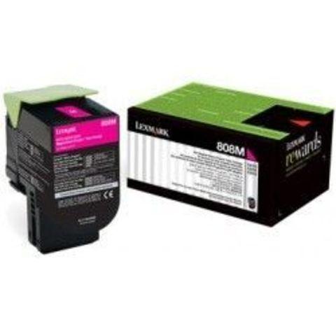 Картридж для принтеров Lexmark CX510 пурпурный (magenta). Ресурс 4000 стр (80C8XME)